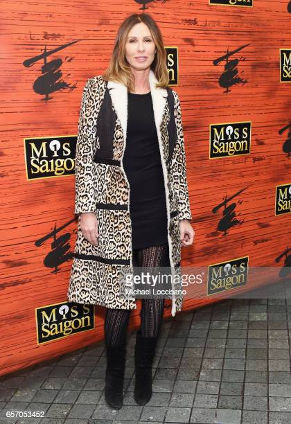 Journalist Carole Radziwill attends the opening night of 'Miss Saigon' Broadway at the Broadway Theatre on March 23 2017 in New York City