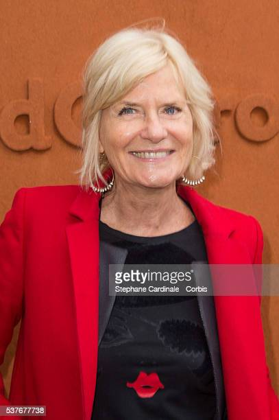 Journalist Catherine Ceylac attends day twelve of the 2016 French Open at Roland Garros on June 2 2016 in Paris France
