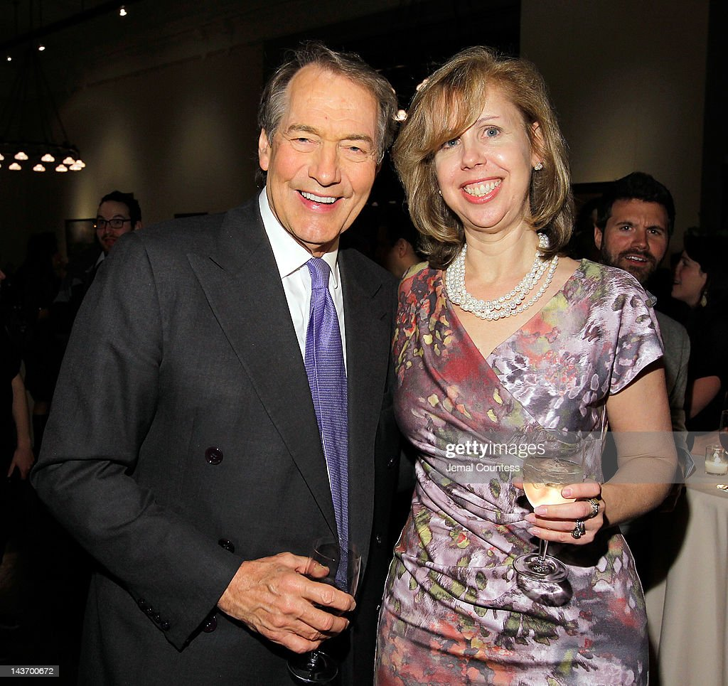 Journalist Charlie Rose and Deputy Managing Editor of TIME magazine Nancy Gibbs attend the Book Signing party for TIME's Nancy Gibbs And Michael...