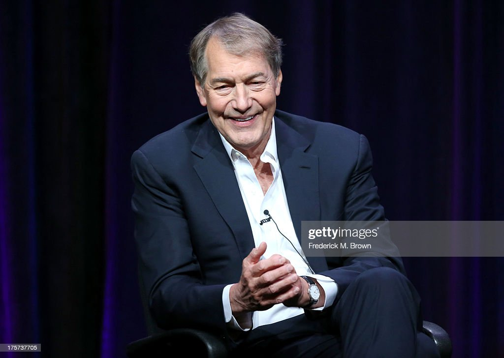 Journalist <a gi-track='captionPersonalityLinkClicked' href=/galleries/search?phrase=Charlie+Rose&family=editorial&specificpeople=535420 ng-click='$event.stopPropagation()'>Charlie Rose</a> speaks onstage during the '<a gi-track='captionPersonalityLinkClicked' href=/galleries/search?phrase=Charlie+Rose&family=editorial&specificpeople=535420 ng-click='$event.stopPropagation()'>Charlie Rose</a>: The Week' panel discussion at the PBS portion of the 2013 Summer Television Critics Association tour at the Beverly Hilton Hotel on August 7, 2013 in Beverly Hills, California.