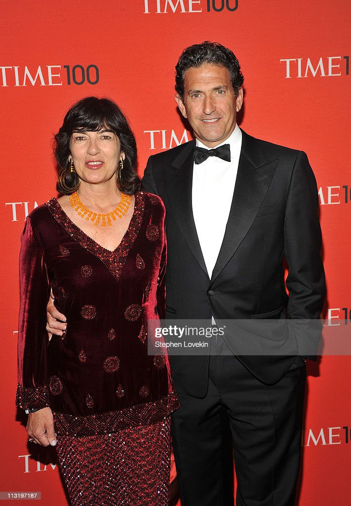 Journalist Christiane Amanpour and James Rubin attend the TIME 100 Gala, TIME'S 100 Most Influential People In The World at Frederick P. Rose Hall, Jazz at Lincoln Center on April 26, 2011 in New York City.