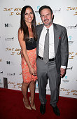 Journalist Christina McLarty and husband actor David Arquette attend a screening of Anchor Bay Entertainment's 'Just Before I Go' at ArcLight...
