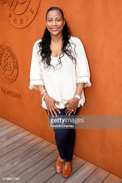 Journalist Christine Kelly attends the 2015 Roland Garros French Tennis Open Day Twelve on June 4 2015 in Paris France