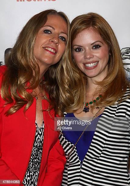Journalist Christine Pelisek and actress Dreama Walker attend the premiere screening and cocktail reception of the Lifetime original movie 'The Grim...