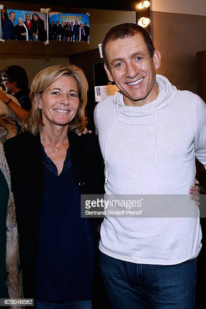 Journalist Claire Chazal and Humorist Dany Boon pose Backstage after 'Dany De Boon Des HautsDeFrance' Show at L'Olympia on November 20 2016 in Paris...
