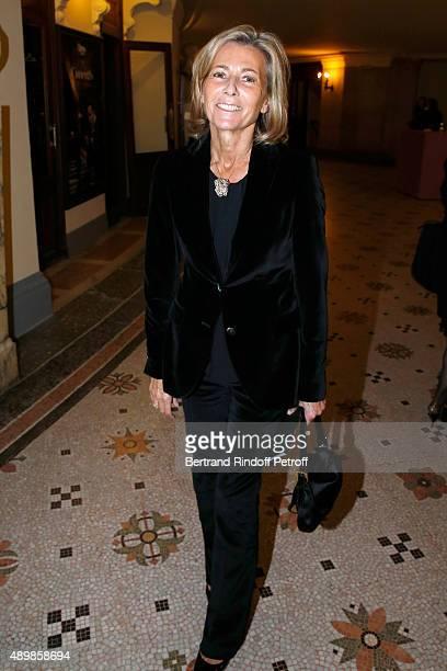 Journalist Claire Chazal attends the Ballet National de Paris Opening Season Gala at Opera Garnier on September 24 2015 in Paris France