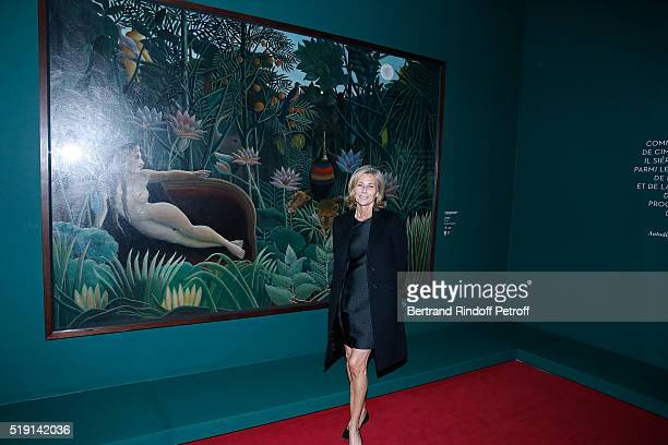 Journalist Claire Chazal attends the 'Societe des Amis du Musee D'Orsay' Dinner and Private tour of the Exhibition 'Le Douanier Rousseau L'innocence...