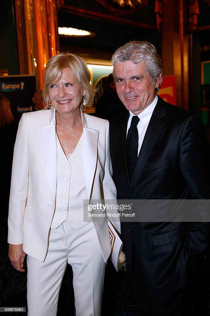 Journalist Claude Serillon and his wife Catherine Ceylac attend 'La 28eme Nuit des Molieres' on May 23, 2016 in Paris, France.