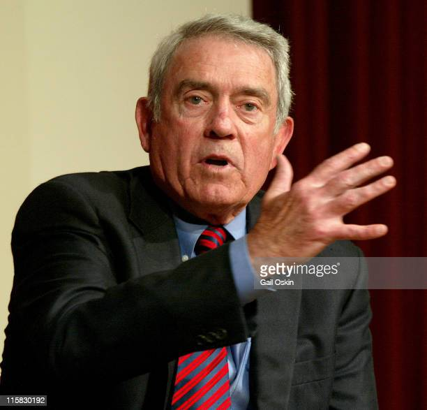 Journalist Dan Rather at the Harvard University Institute of Politics at the Kennedy School of Government in Cambridge Massachusetts Thursday March 9...