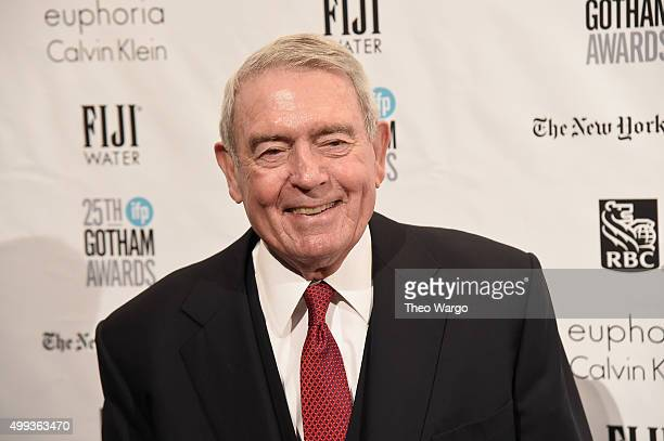 Journalist Dan Rather attends the 25th Annual Gotham Independent Film Awards at Cipriani Wall Street on November 30 2015 in New York City