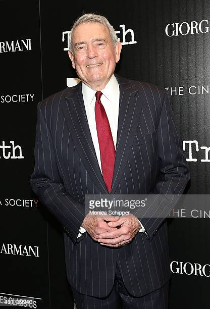 Journalist Dan Rather attends the screening of Sony Pictures Classics' 'Truth' hosted by Giorgio Armani and The Cinema Society at Museum of Modern...