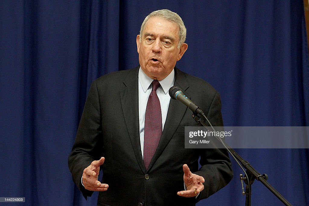 Journalist <a gi-track='captionPersonalityLinkClicked' href=/galleries/search?phrase=Dan+Rather&family=editorial&specificpeople=209204 ng-click='$event.stopPropagation()'>Dan Rather</a> speaks before his book signing for 'Rather Outspoken' at Book People on May 11, 2012 in Austin, Texas.
