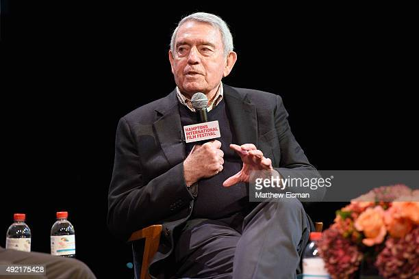 Journalist Dan Rather speaks during A Conversation With Dan Rather on Day 3 of the 23rd Annual Hamptons International Film Festival on October 10...