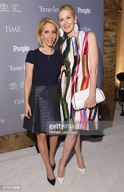 Journalist Dana Bash and actress Kelly Rutherford attend Time and People's annual cocktail party on White House Correspondents' Weekend at St Regis...