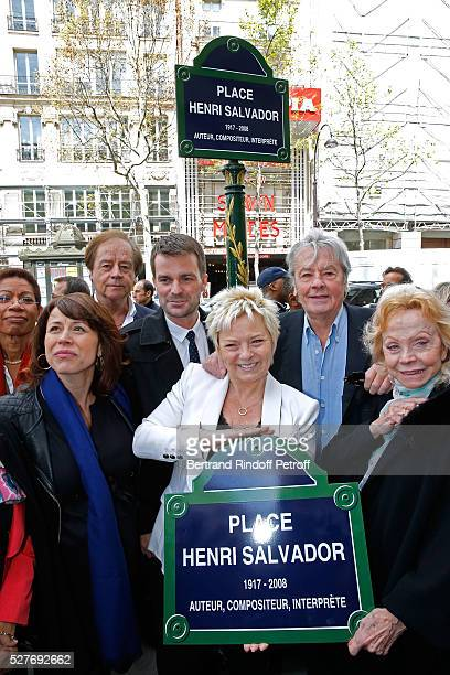 Journalist Daniel Lauclair Mayor of 9th district of paris Delphine Burkli First Deputy Mayor of Paris responsible for culture Bruno Julliard wife of...