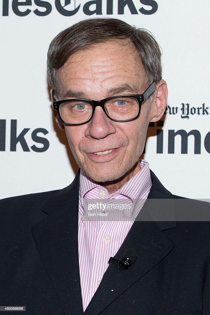 Journalist David Carr attends a TimesTalks at TheTimesCenter on December 16 2014 in New York City