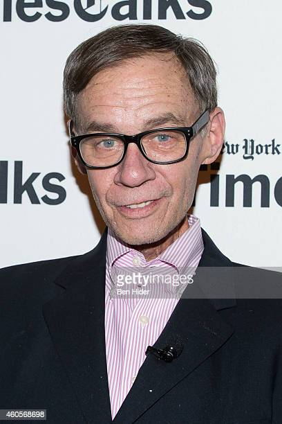 Journalist David Carr attends a TimesTalks at TheTimesCenter on December 16 2014 in New York City