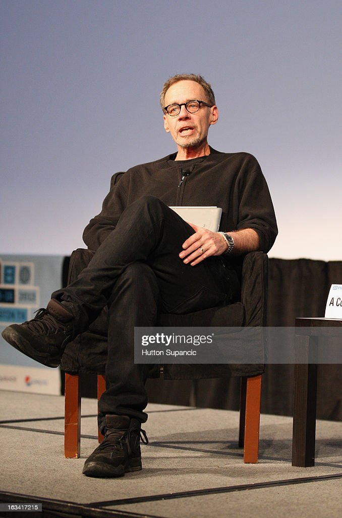 Journalist David Carr speaks onstage at A Conversation With Danny Boyle during the 2013 SXSW Music Film Interactive Festival at Austin Convention...