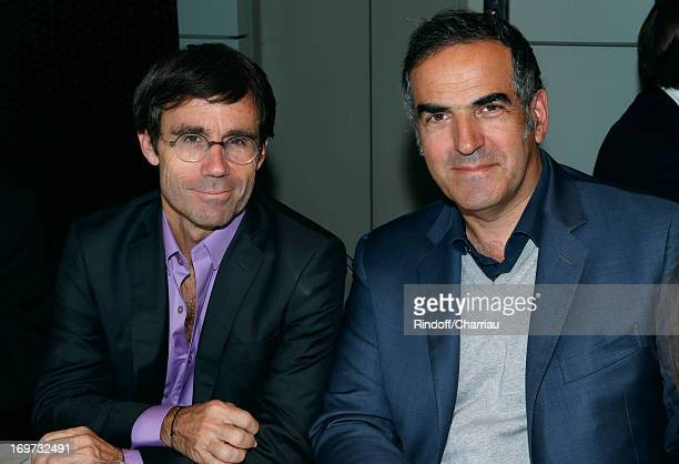 Journalist David Pujadas and CEO of RTL Christopher Baldelli attend Roland Garros Tennis French Open 2013 Day 6 on May 31 2013 in Paris France