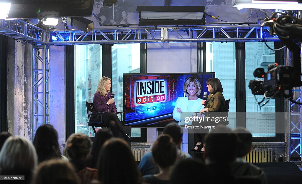 Journalist <a gi-track='captionPersonalityLinkClicked' href=/galleries/search?phrase=Deborah+Norville&family=editorial&specificpeople=214079 ng-click='$event.stopPropagation()'>Deborah Norville</a> discusses her career and her 20th year as anchor on 'Inside Edition with moderator Donna Freydkin (R) during AOL Build Speaker Series at AOL Studios In New York on February 12, 2016 in New York City.