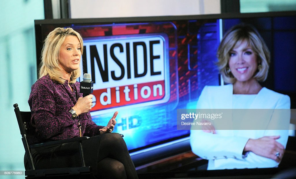 Journalist <a gi-track='captionPersonalityLinkClicked' href=/galleries/search?phrase=Deborah+Norville&family=editorial&specificpeople=214079 ng-click='$event.stopPropagation()'>Deborah Norville</a> discusses her career and her 20th year as anchor on 'Inside Edition during AOL Build Speaker Series at AOL Studios In New York on February 12, 2016 in New York City.