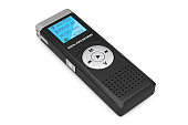 Journalist Digital Voice Recorder or Dictaphone on a white background. 3d Rendering
