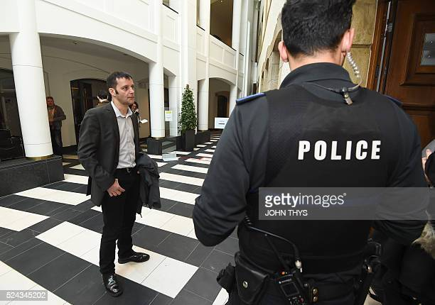 Journalist Edouard Perrin arrives at the courthouse in Luxembourg on April 26 for a trial over the socalled LuxLeaks scandal that exposed the...