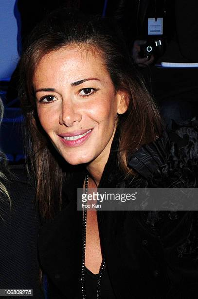 TV journalist Elsa Fayer attends the Paris Fashion Week Haute Couture S/S 2010 Christophe Josse show at Les BeauxArts de Paris on January 25 2010 in...