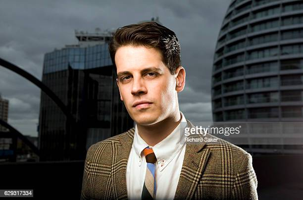 Journalist entrepreneur public speaker and technology editor for Breitbart News Milo Yiannopoulos is photographed for the Observer on June 13 2012 in...
