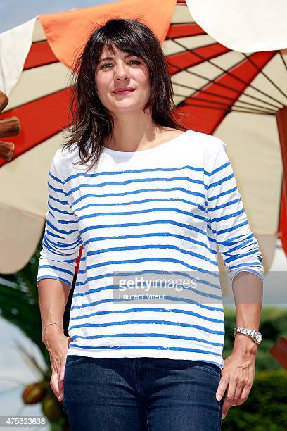 Journalist Estelle Denis attends the Frozen Summer Party at Disneyland Paris on May 30 2015 in Paris France