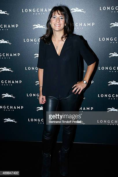 Journalist Estelle Denis attends the Longchamp Elysees 'Lights On Party' Boutique Launch on December 4 2014 in Paris France