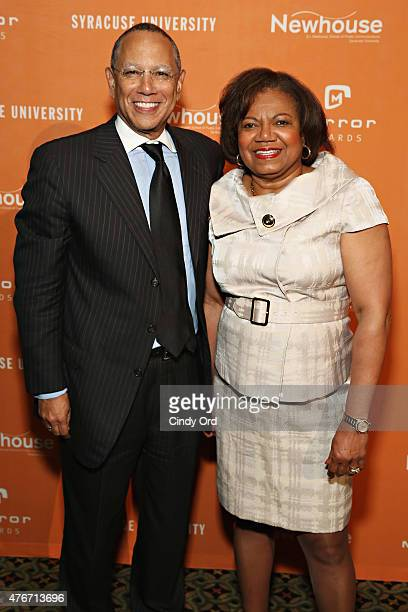 Journalist/ executive editor at The New York Times Dean Baquet and Dean at SI Newhouse School of Public Communications Lorraine Branham attend the...