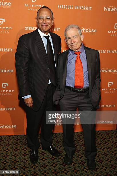 Journalist/ executive editor at The New York Times Dean Baquet and President of Advance Publications Donald Newhouse attend the Mirror Awards '15 at...