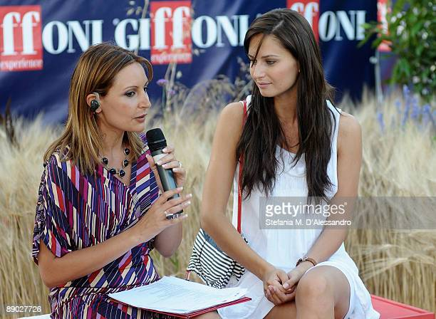 Journalist Francesca De Simone and Actress Anna Safroncik attend a press conference during the third day of the 2009 Giffoni Experience on July 14...