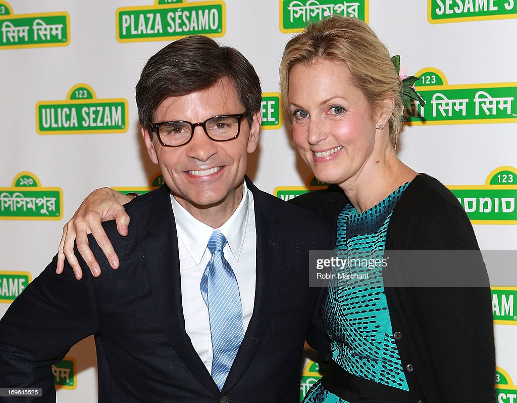 Journalist <a gi-track='captionPersonalityLinkClicked' href=/galleries/search?phrase=George+Stephanopoulos&family=editorial&specificpeople=206404 ng-click='$event.stopPropagation()'>George Stephanopoulos</a> (L) and comedian Ali Wentworth attend the 11th Annual Sesame Street Workshop Benefit Gala at Cipriani 42nd Street on May 29, 2013 in New York City.
