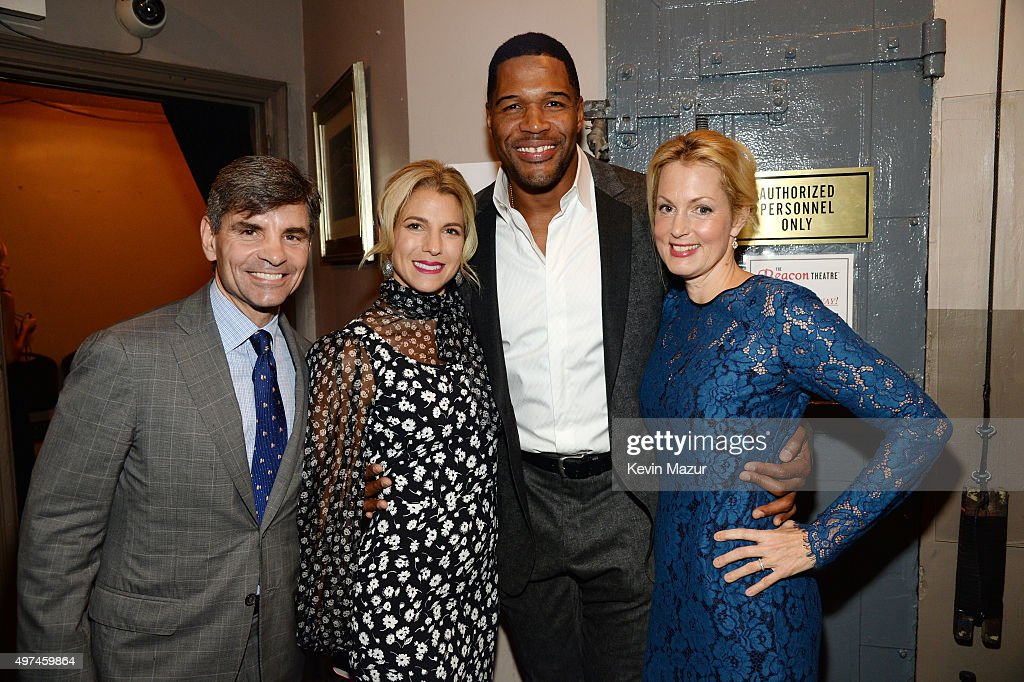 Journalist George Stephanopoulos, Baby Buggy Founder Jessica Seinfeld, Former professional football player/television personality Michael Strahan, and actress Ali Wentworth attend as Baby Buggy celebrates 15 years with 'An Evening with Jerry Seinfeld and Amy Schumer' presented by Bank of America - Inside at Beacon Theatre on November 16, 2015 in New York City.