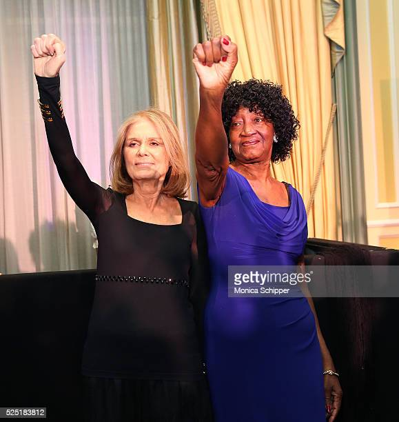 Journalist Gloria Steinem and author Dorothy Pitman Hughes attend Ms Foundation For Women 2016 Gloria Awards Gala at The Pierre Hotel on April 27...