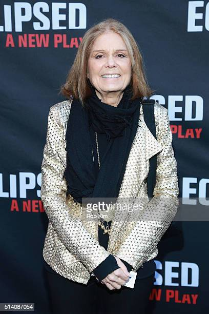Journalist Gloria Steinem attends the 'Eclipsed' broadway opening night at The Golden Theatre on March 6 2016 in New York City