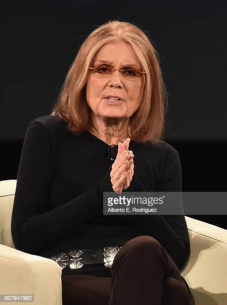 Journalist Gloria Steinem speaks at the 2016 AOL MAKERS Conference at Terranea Resort on February 1 2016 in Rancho Palos Verdes California