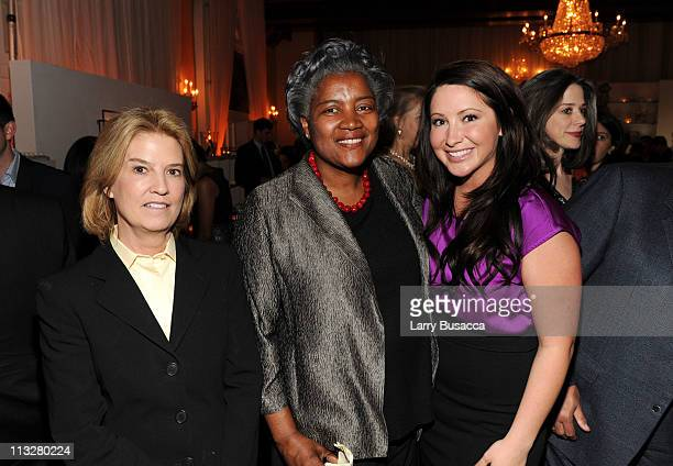 Journalist Greta Van Susteren political strategist Donna Brazile and Bristol Palin attend the People/TIME White House Correspondents' dinner cocktail...
