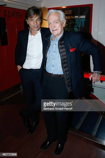 Journalist Guy Lagache and Journalist and Director Philippe labro attend the Private Screening of the Movie 'Tout Peut Arriver' at Mac Mahon Cinema...