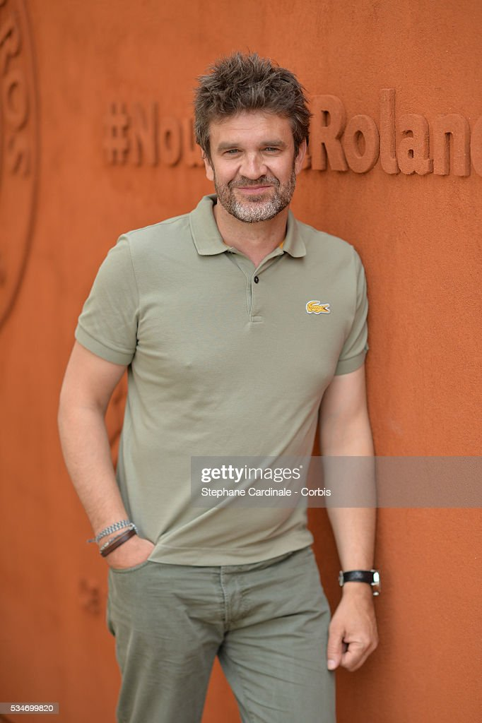 Journalist Herve Mathoux attends day six of the 2016 French Open at Roland Garros on May 27, 2016 in Paris, France.