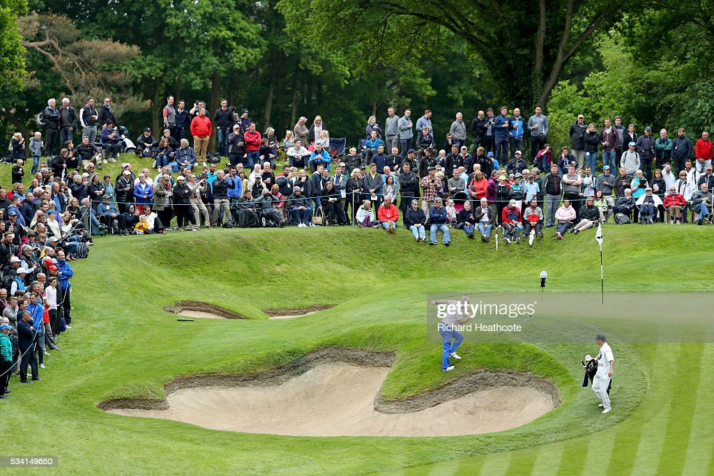 Journalist Ian Hosegood on the 2nd hole during the Pro-Am prior to the BMW PGA Championship at Wentworth on May 25, 2016 in Virginia Water, England.