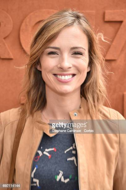 Journalist Isabelle Ithurburu attends the 2017 French Tennis Open Day Seven at Roland Garros on June 3 2017 in Paris France