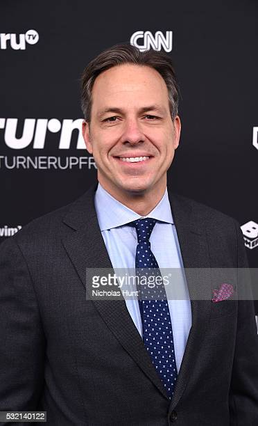 Journalist Jake Tapper attends Turner Upfront 2016 arrivals at The Theater at Madison Square Garden on May 18 2016 in New York City