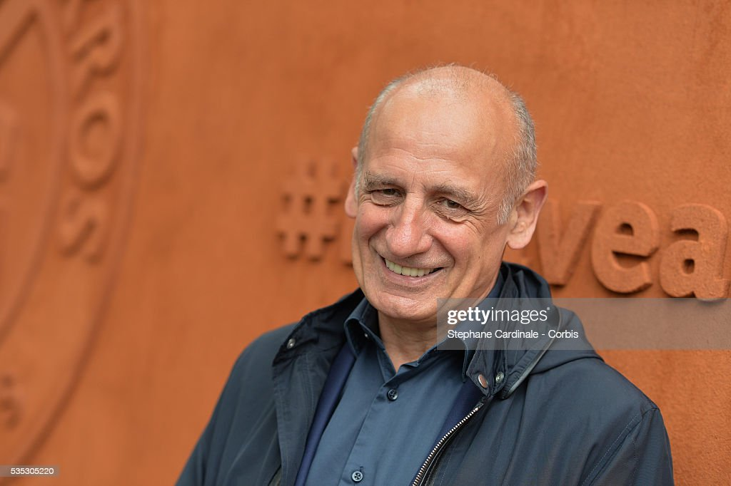 Journalist Jean-Michel Aphatie attends day eight of the 2016 French Open at Roland Garros on May 29, 2016 in Paris, France.