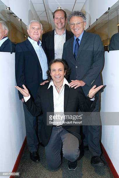 Journalist JeanPaul Ollivier Director of the 'Tour de France' Christian Prudhomme Journalist Nelson Monfort and former Figure Skater Philippe...