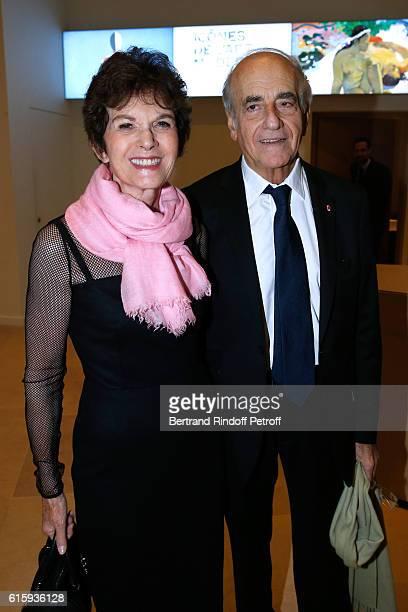 Journalist JeanPierre Elkabbach and his wife Nicole Avril attend the 'Icones de l'Art Moderne La Collection Chtchoukine' Cocktail at Fondation Louis...