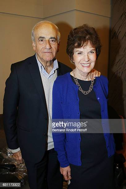 Journalist JeanPierre Elkabbach and his wife Writer Nicole Avril attend the Enrico Macias Show at L'Olympia on January 7 2017 in Paris France