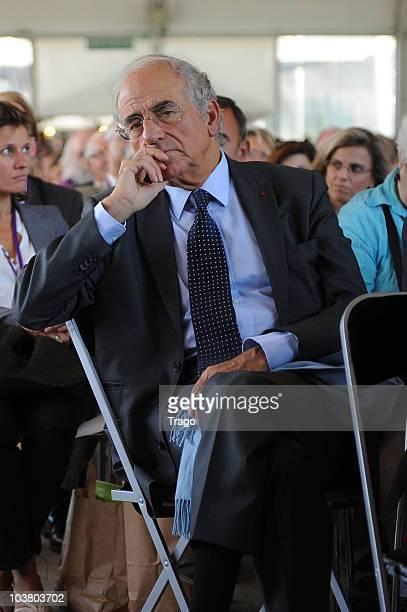 Journalist JeanPierre Elkabbach attends the Mouvement des Entreprises de France Summer University conference on September 2 2010 in JouyenJosas...